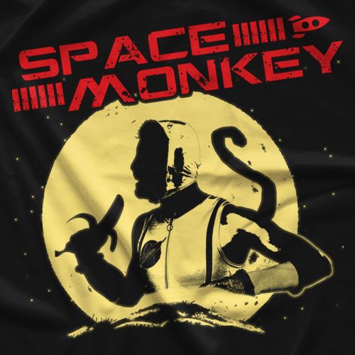 Space Monkey Full Moon T-shirt