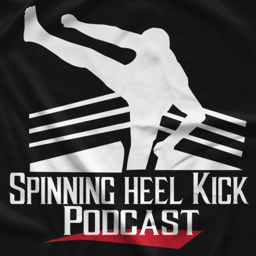 Spinning Heel Kick Podcast Logo T-shirt