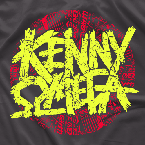 "- Clotheslined Apparel - Vintage Soft T-shirt Kenny Omega ""Trashed"""