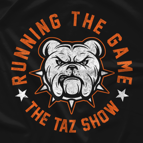"Clotheslined Apparel - Vintage Blend Soft T-shirt The Taz Show ""Running The Game"""