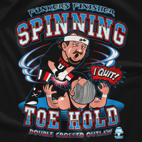 Terry Funk Spinning Toe Hold - Cartoon T-Shirt