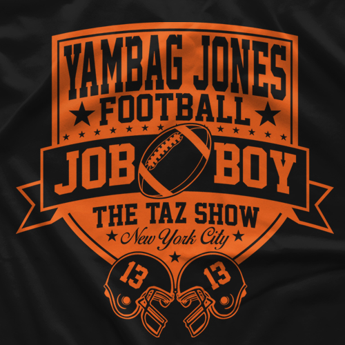 "- Clotheslined Apparel - Vintage Blend Soft T-shirt The Taz Show ""Yambag Jones"""