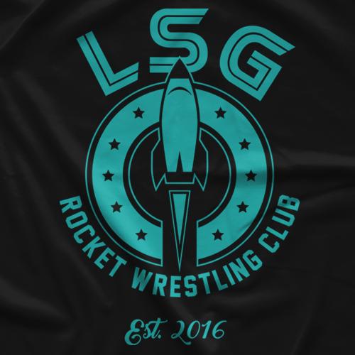 Rocket Wrestling Club (teal)  T-shirt
