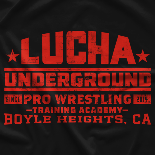 Lucha Underground Training Academy Black T-Shirt