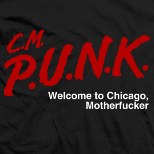 CM Punk Welcome To Chicago T-shirt