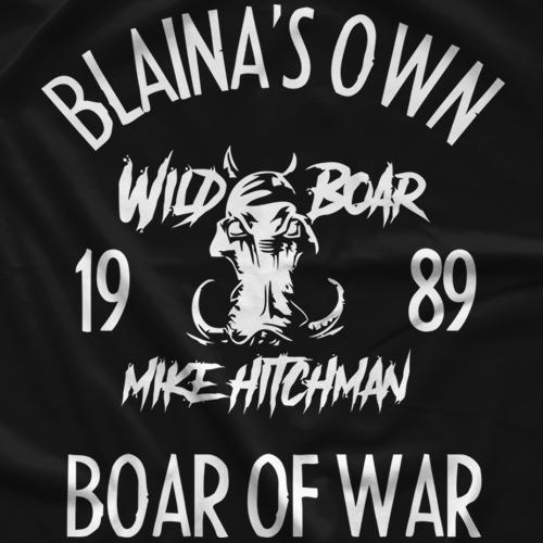 Wild Boar Mike Hitchman Blaina's Own T-shirt