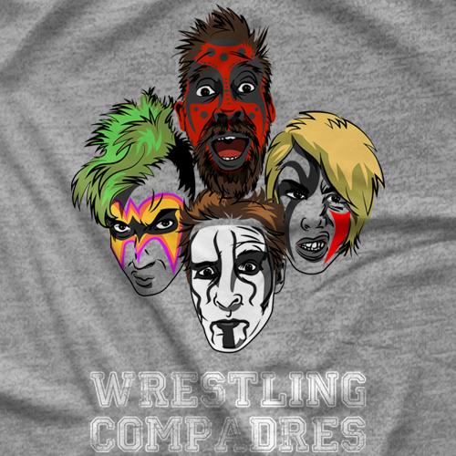 Wrestling Compadres Face Paint T-shirt