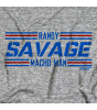 Randy Savage Striped Fonts by 500 Level T-shirt
