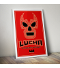 Logo Red Print by Lucha Underground