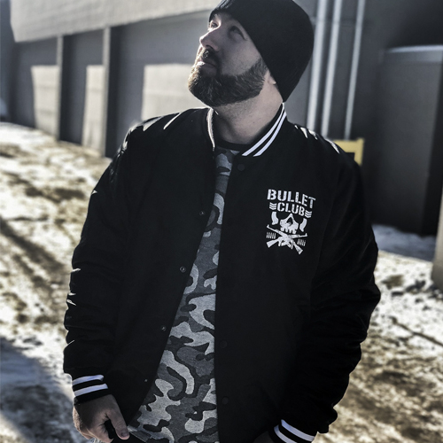PRE-ORDER: Bullet Club Retro Style Satin Bomber Jacket by Chalk Line (Limited Run 8-10 Weeks To Ship)