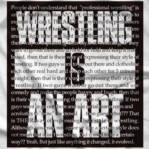 Wrestling Is An Art