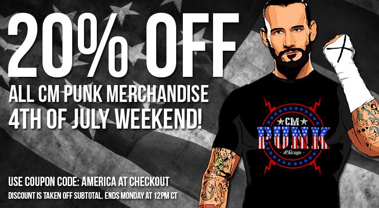 Cm punk 20% off