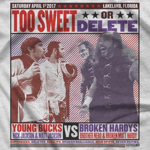 Too Sweet or Delete - Clotheslined Apparel Match