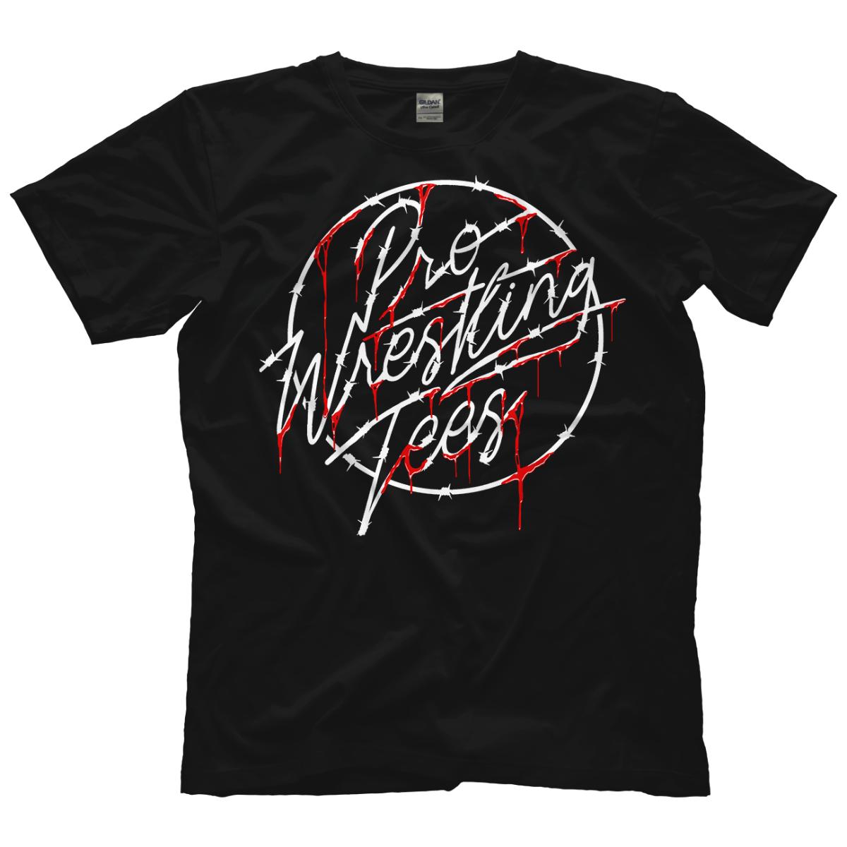Pro Wrestling Tees Skewed Flag Logo T-shirt