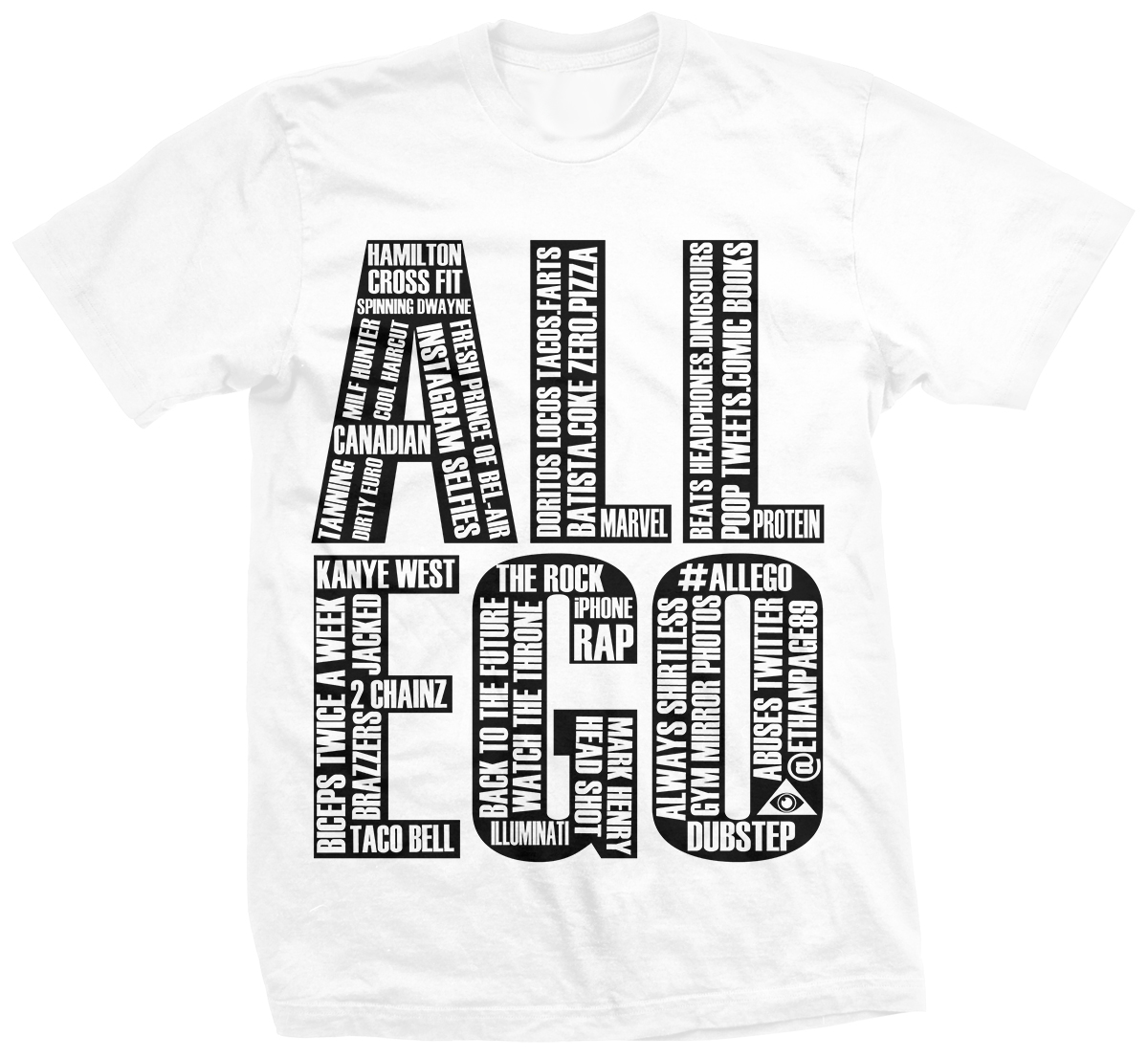 Ethan Page All Ego Word Play T-shirt