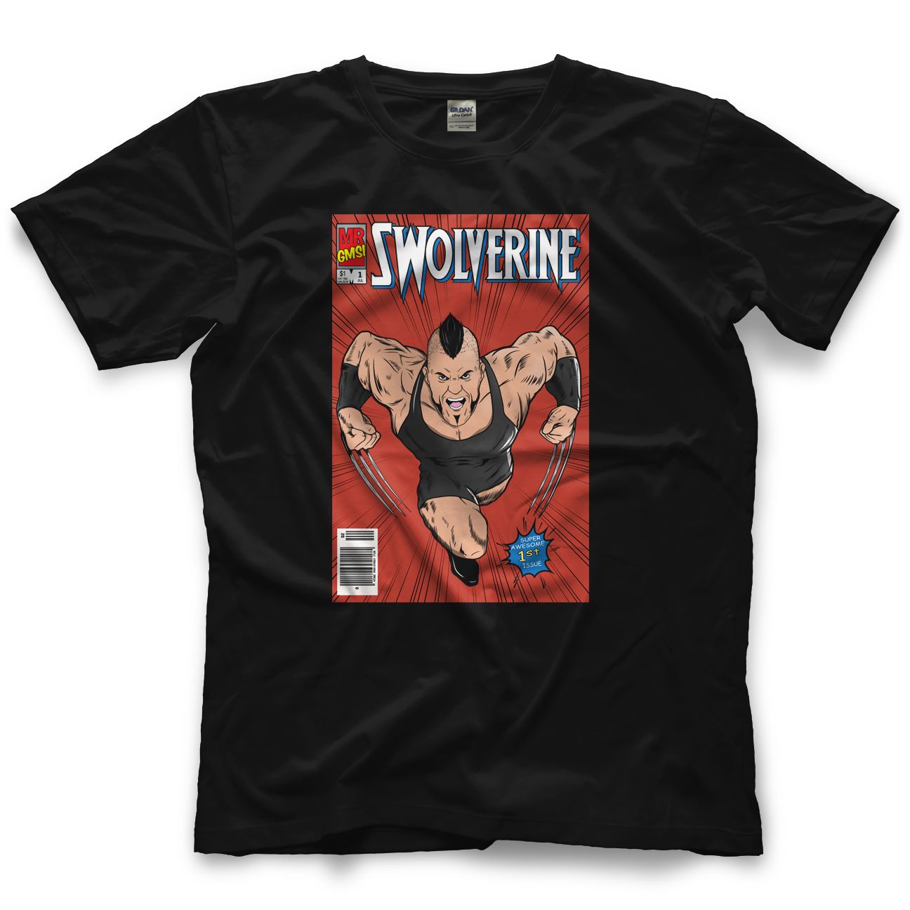 Brian Cage Swolverine Comic T-shirt