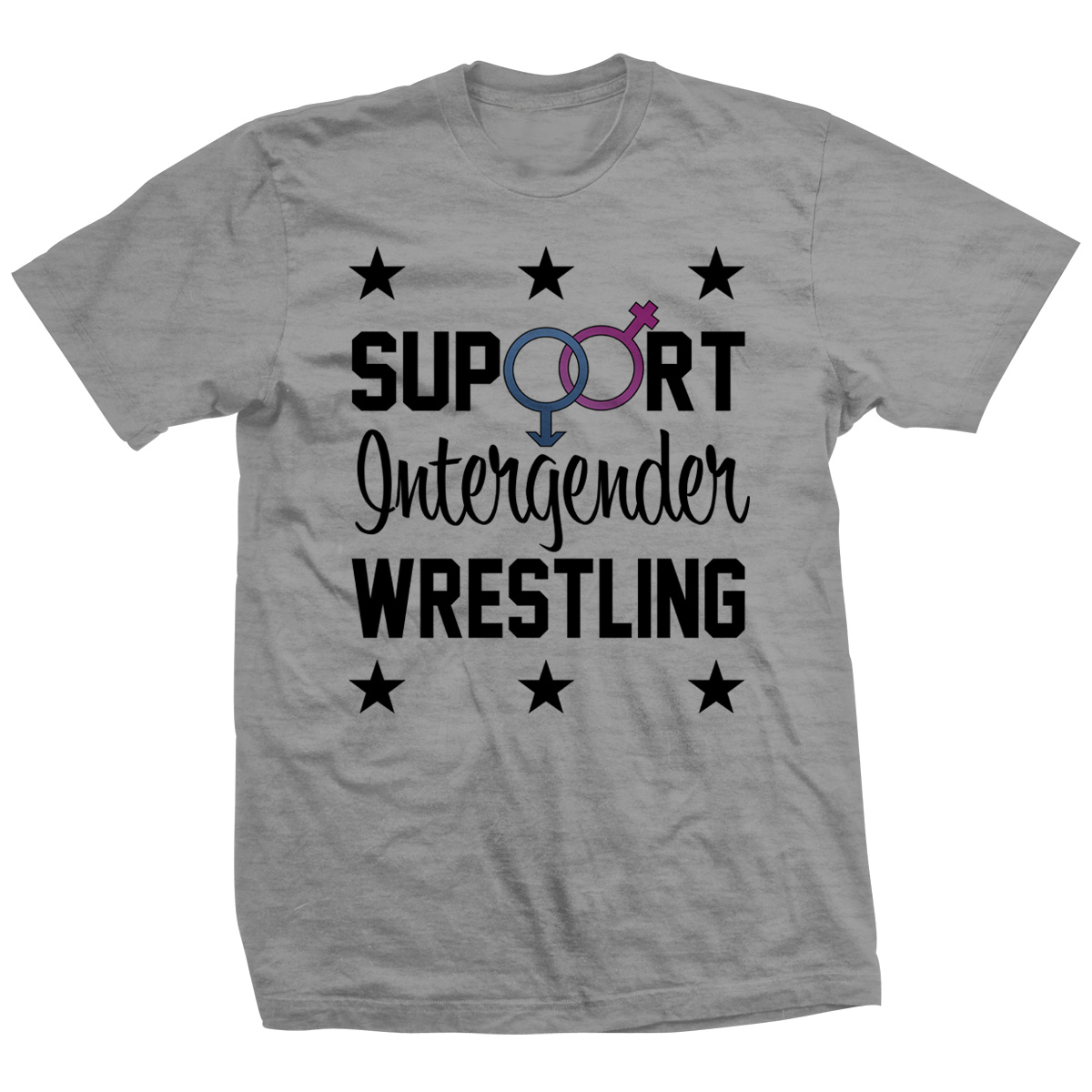 Support Intergender Wrestling T-shirt