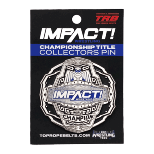 Impact World Champion Belt Wrestling Pin