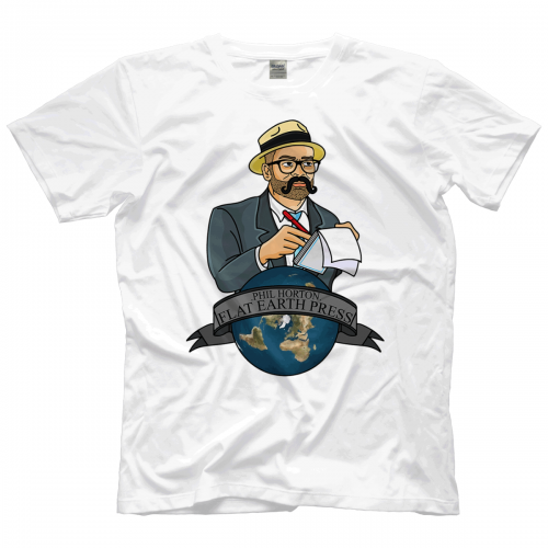 eaee80764 Flip Gordon Phil Horton - Flat Earth Press T-shirt