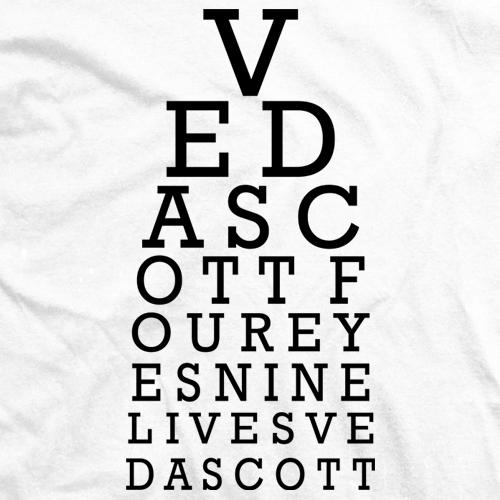 Veda Scott Professional Wrestler Eye Chart T Shirt