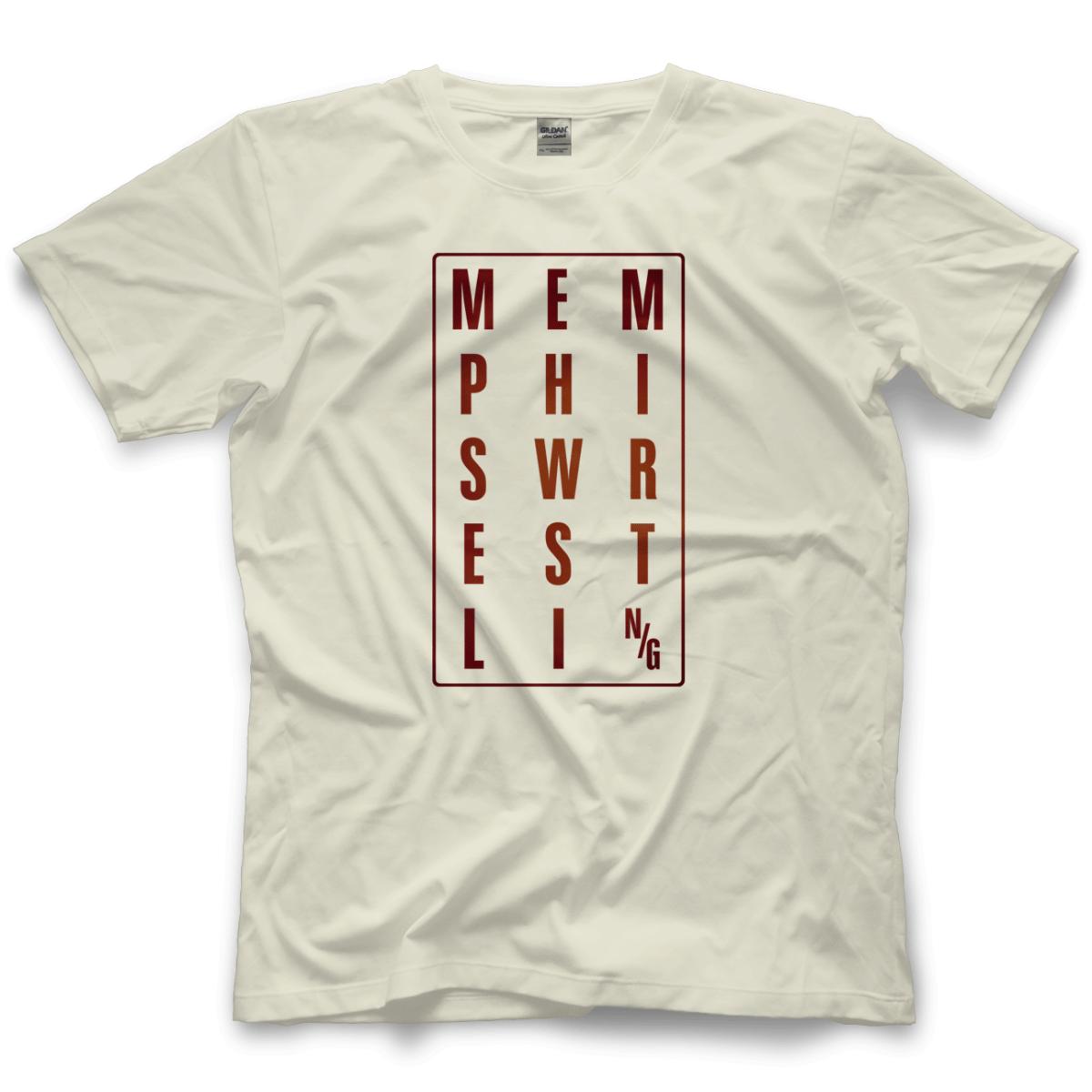 Memphis Wrestling Shirts Memphis Wrestling Box Logo Color T Shirt