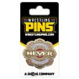 NJPW - IWGP Never Openweight Championship Center Plate Belt Wrestling Pin