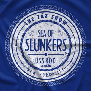"- Clotheslined Apparel - Vintage Blend Soft T-shirt The Taz Show ""Sea of Slunkers"""
