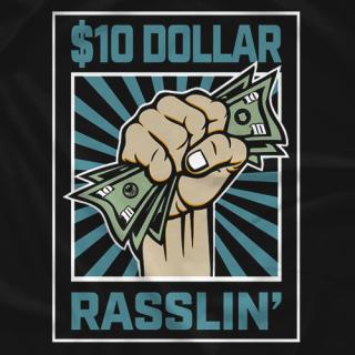 $10 DOLLAR RASSLIN BLUE LOGO