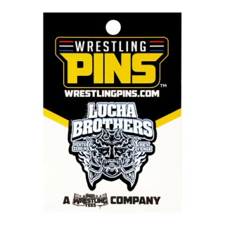 Lucha Bros - White Mask Wrestling Pin