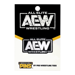 AEW White Logo Wrestling Pin