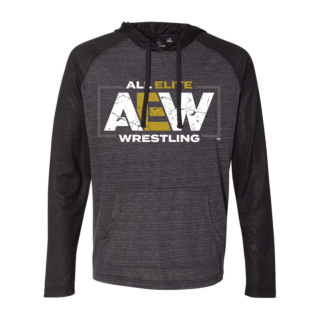 AEW Logo Raglan Fitted T-shirt Hoodie