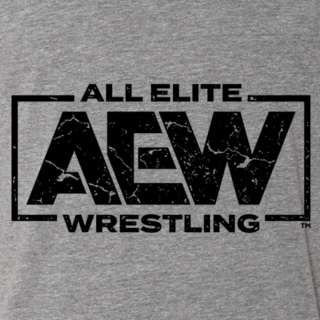 AEW Black Logo Tri-blend Tee