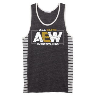 AEW Striped Side Tri-Blend Tank Top