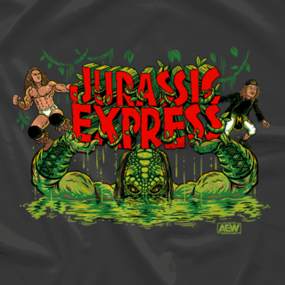 Luchasaurus, Jungle Boy and Marko Stunt - Jurassic Express