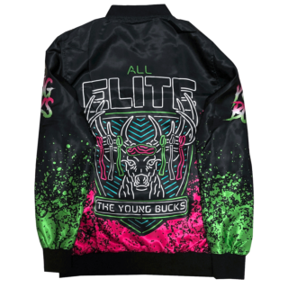 Pre-orders end 10/17: AEW x Nerds Clothing - Young Bucks Neon Bomber Jacket (4-6 weeks to ship)