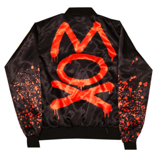 Pre-orders end 11/21: AEW x Nerds Clothing - Jon Moxley Spray Bomber Jacket (4-6 weeks to ship)