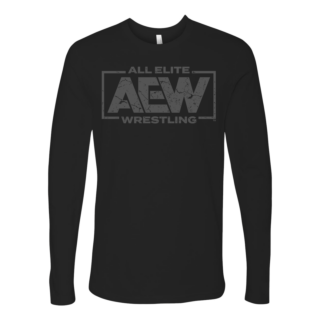 AEW Grey Logo Long Sleeve Tee