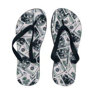 Young Bucks Money All Over Print Flip Flops