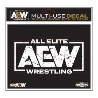 AEW White Logo Multi-Use Decal