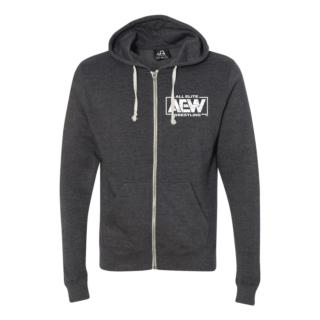 AEW Triblend Full-Zip Hooded Sweatshirt (Double Sided)