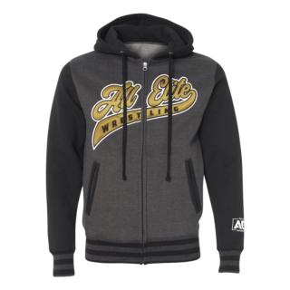 AEW Athletic Premium Embroidered Varsity Zip Hoodie