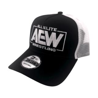 AEW Logo New Era Snapback Trucker Cap