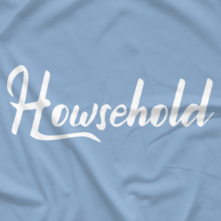 Carolina Blue Howsehold Script Shirt