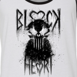 Blackheart White/Black Ringer Tank