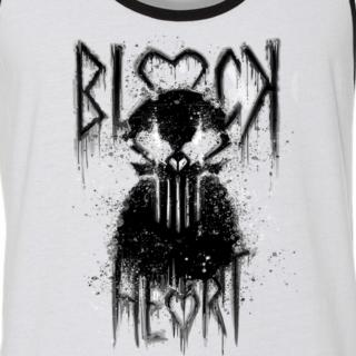 Blackheart White/Black Ringer Tank