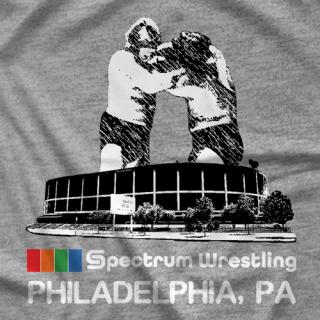 Blue Meanie Spectrum Wrestling T-shirt