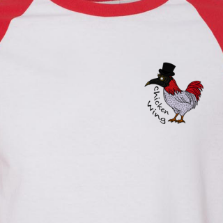 Chicken Wing Baseball Tee w/ Free Marty Scurll Costume Mask