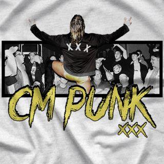 "- Clotheslined Apparel - Vintage Blend Soft T-shirt CM Punk ""Legacy"""