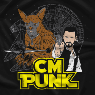 CM Punk Punk Solo and Larbacca T-shirt