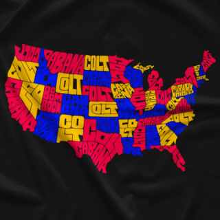 Colt Cabana Art of Wrestling Colt Map T-shirt